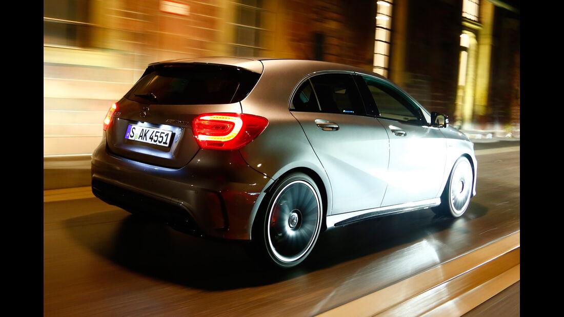 Mercedes A 45 AMG, Heckansicht