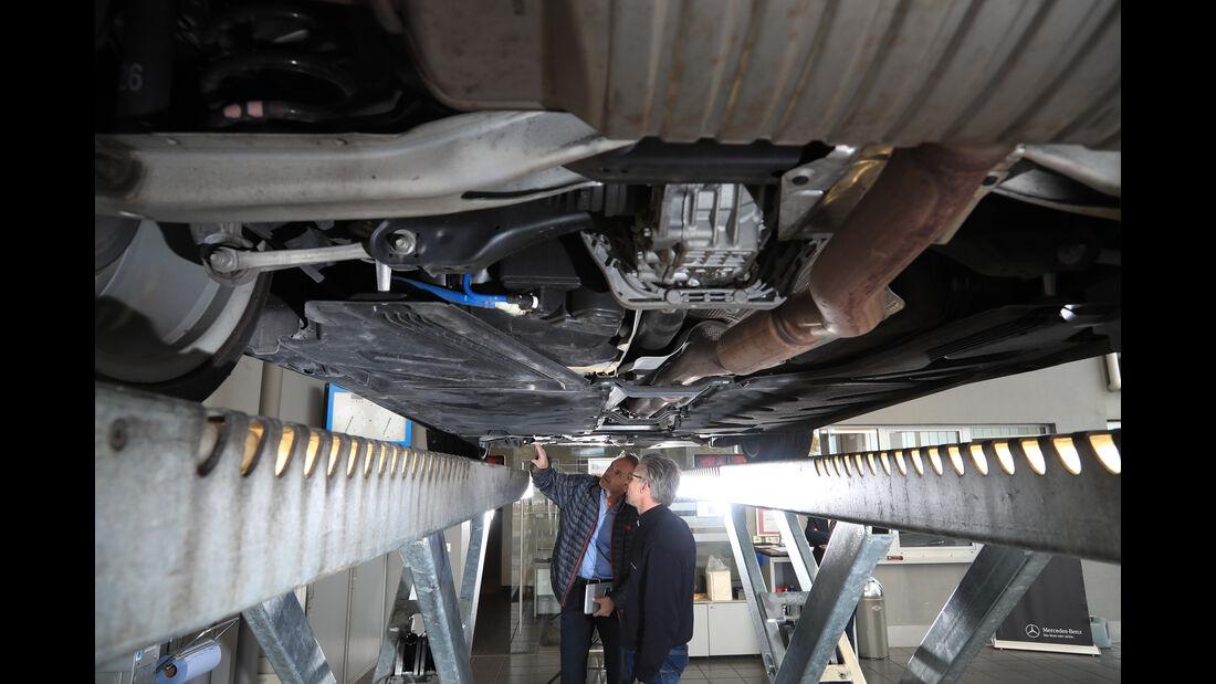 Mercedes A 45 AMG, Unterboden