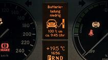 Mercedes A-Klasse E-Cell, Detail, Bildschirm, Anzeige