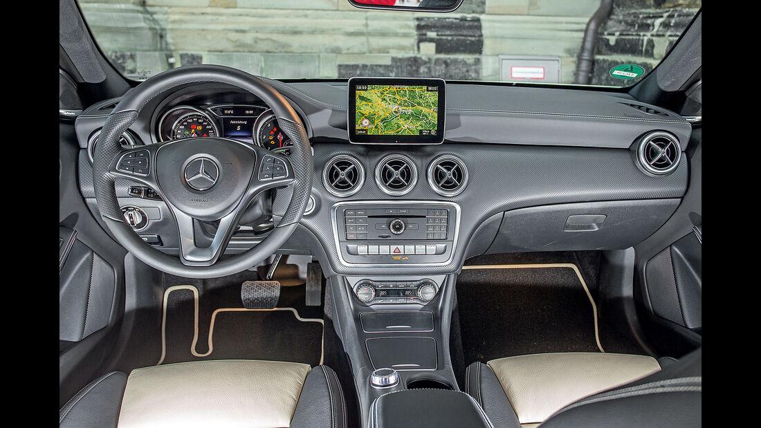 Mercedes A-Klasse Facelift, 09/15, Fahrbericht, Interieur