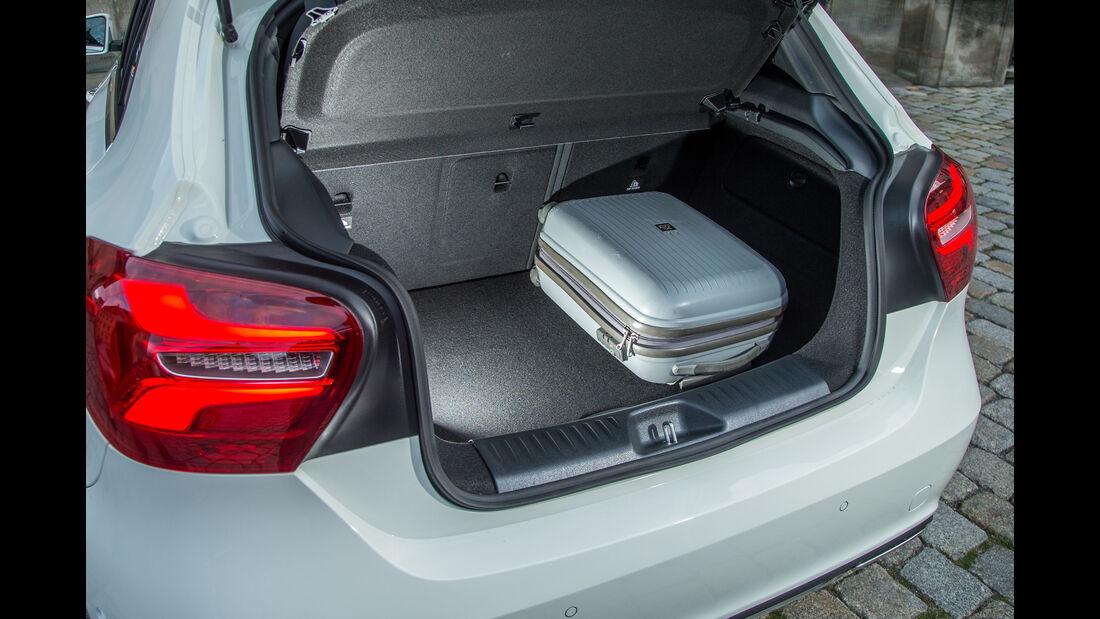 Mercedes A-Klasse Facelift, 09/15, Fahrbericht, Kofferraum