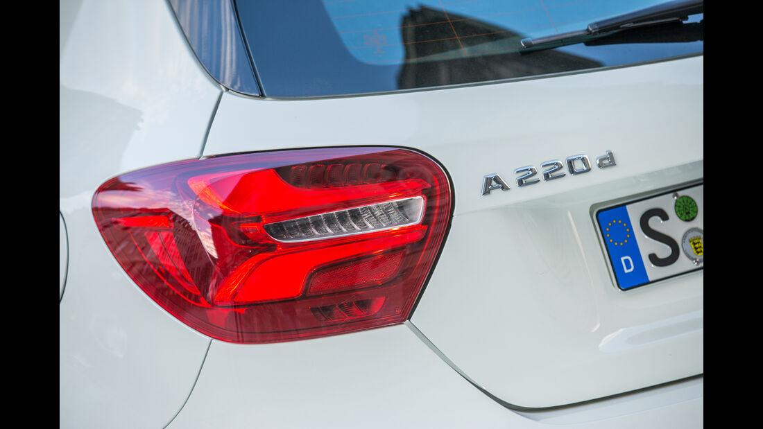 Mercedes A-Klasse Facelift, 09/15, Fahrbericht, Rückleuchte