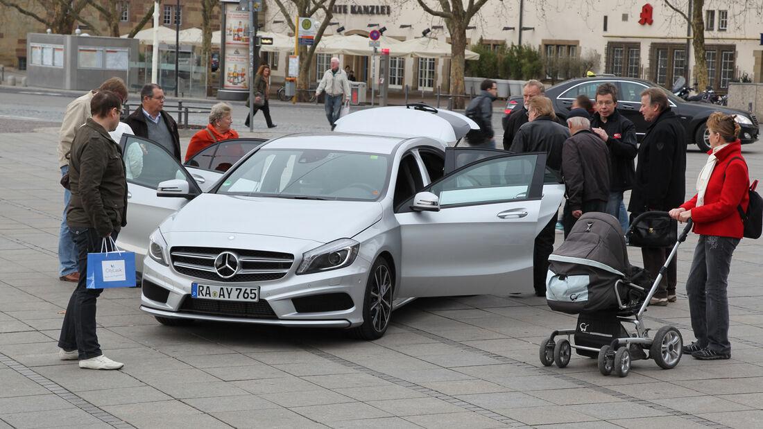 Mercedes A-Klasse, Front, Fußgängerzone