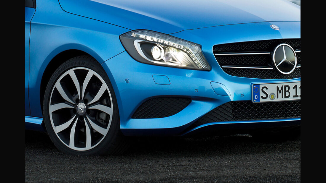 Mercedes A-Klasse, Front, Scheinwerfer, Felgen
