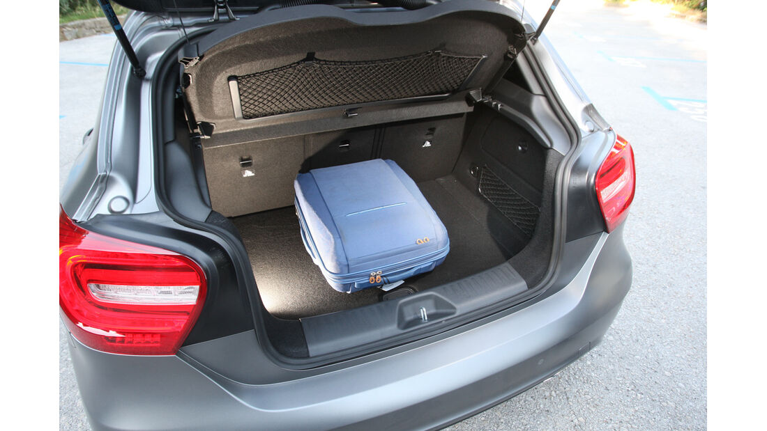 Mercedes A-Klasse, Kofferraum