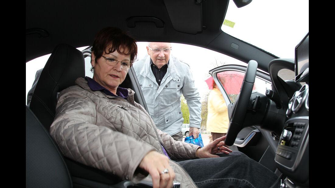 Mercedes A-Klasse, Probesitzen
