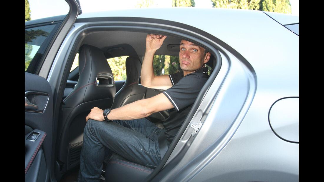 Mercedes A-Klasse, Rückbank, Kopffreiheit