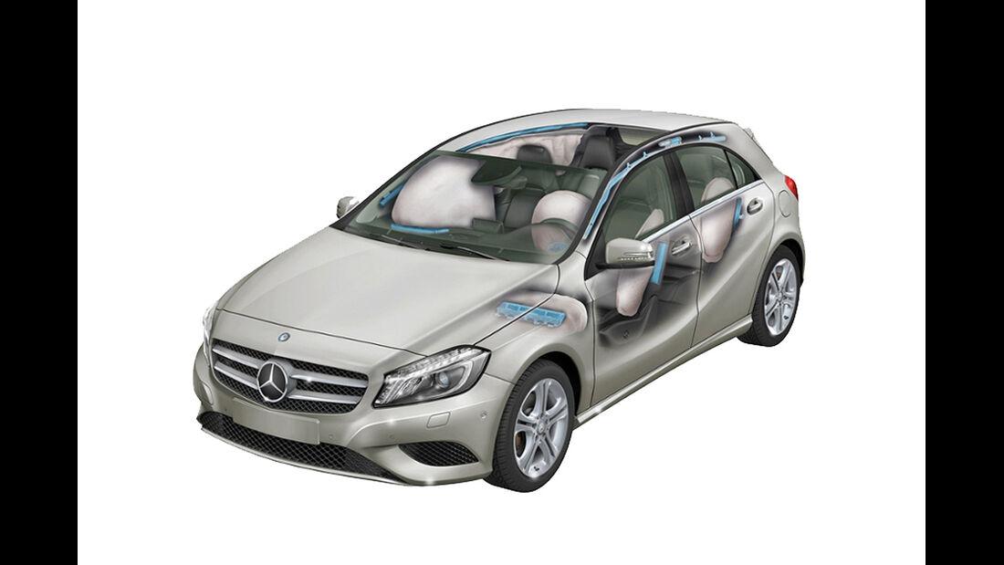 Mercedes A-Klasse, Seiten-Airbags im Fond
