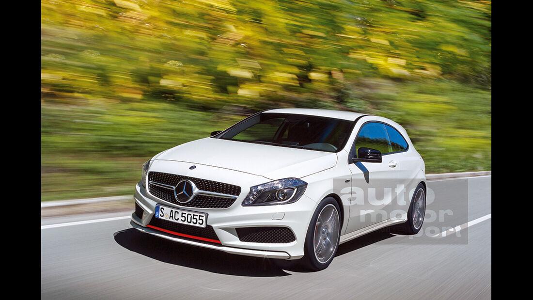 Mercedes A-Klasse Zweitürer, Retusche