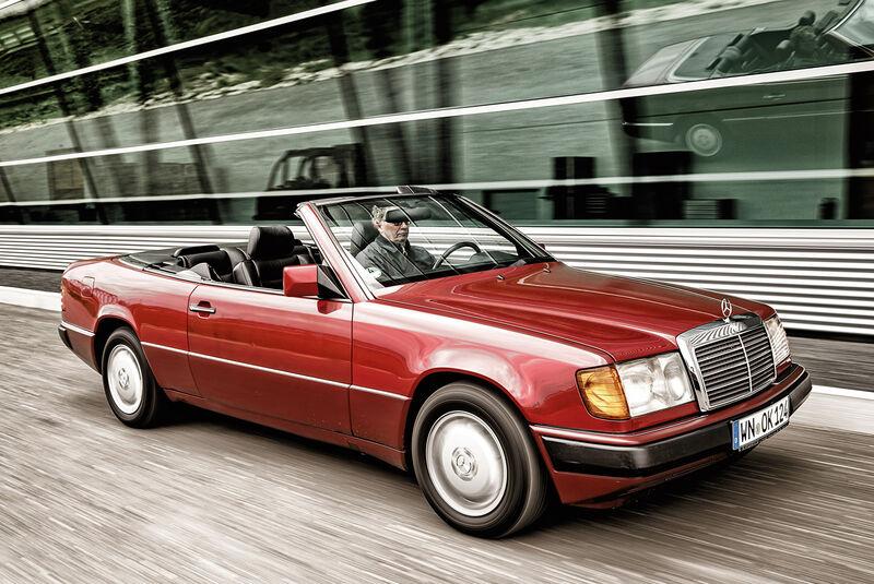 Mercedes A124 Cabriolet, Seitenansicht