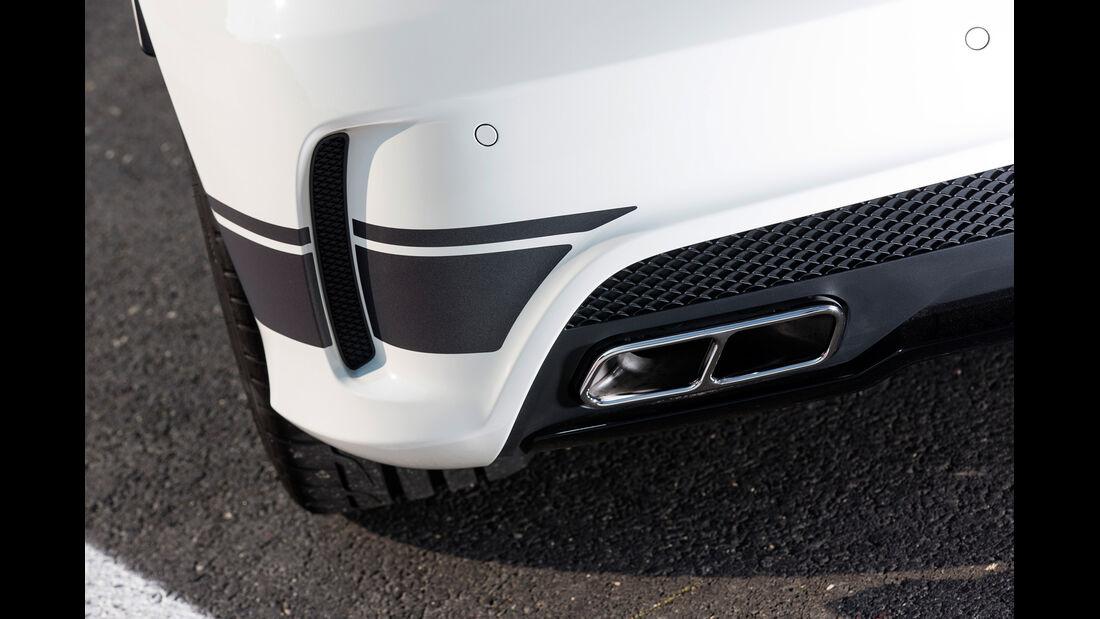 Mercedes A45 AMG Edition 1, Auspuff, Endrohr