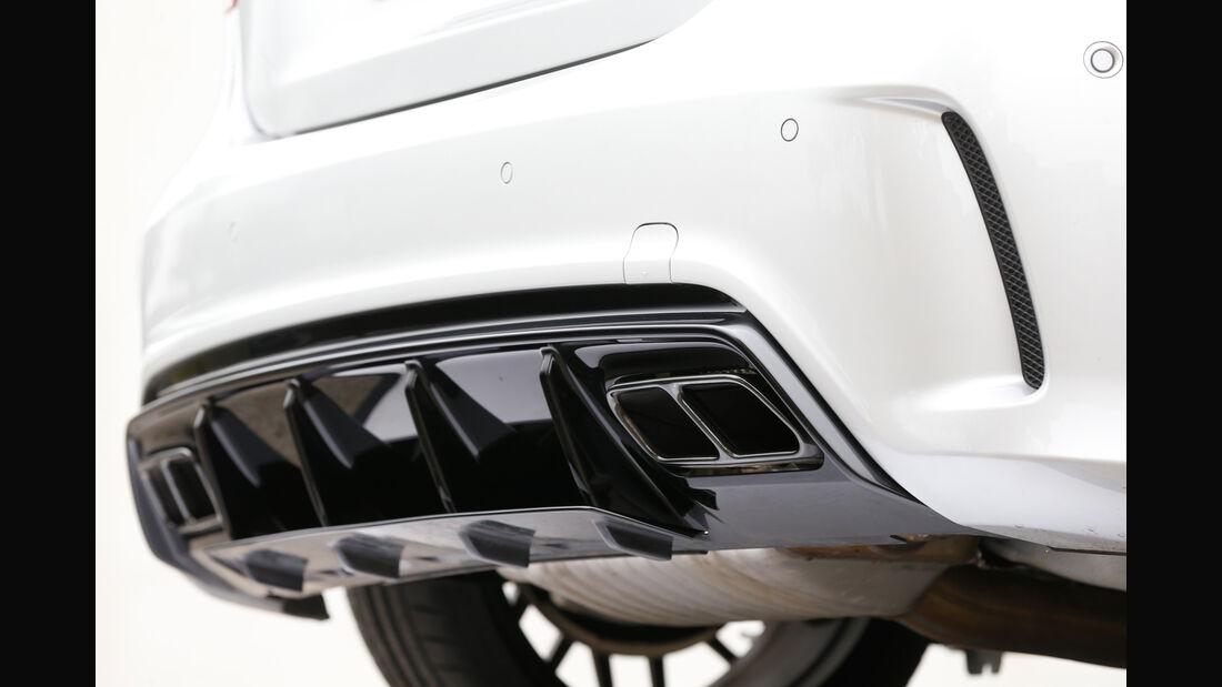 Mercedes AMG A 45, Auspuff, Endrohre