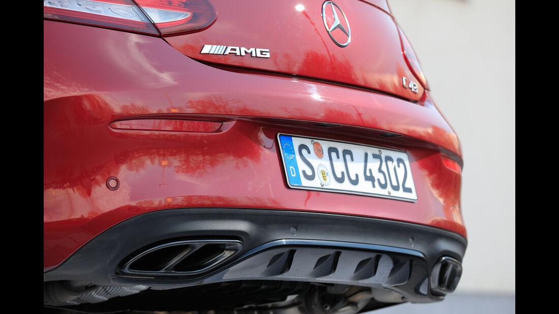 Mercedes AMG C 43 Coupé, Endrohre