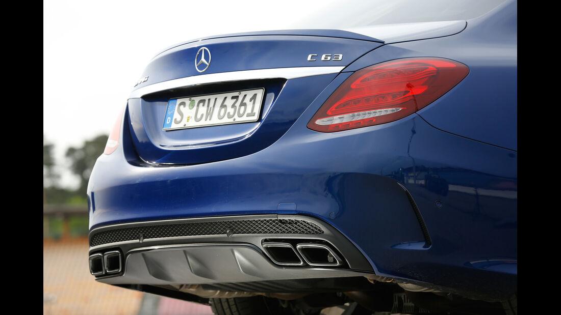 Mercedes-AMG C 63, Auspuff, Endrohre