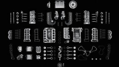 Mercedes-AMG C 63, Bauteile, AMG 4,0-Liter V8-Biturbomotor, Motorbaureihe M177