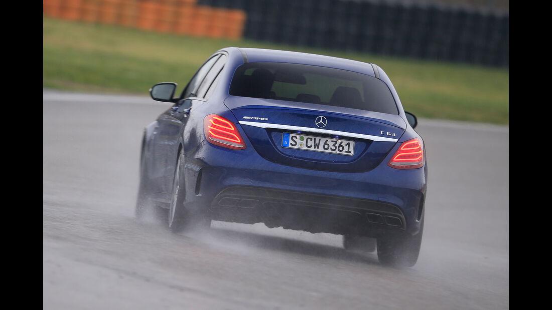 Mercedes-AMG C63, Heckansicht
