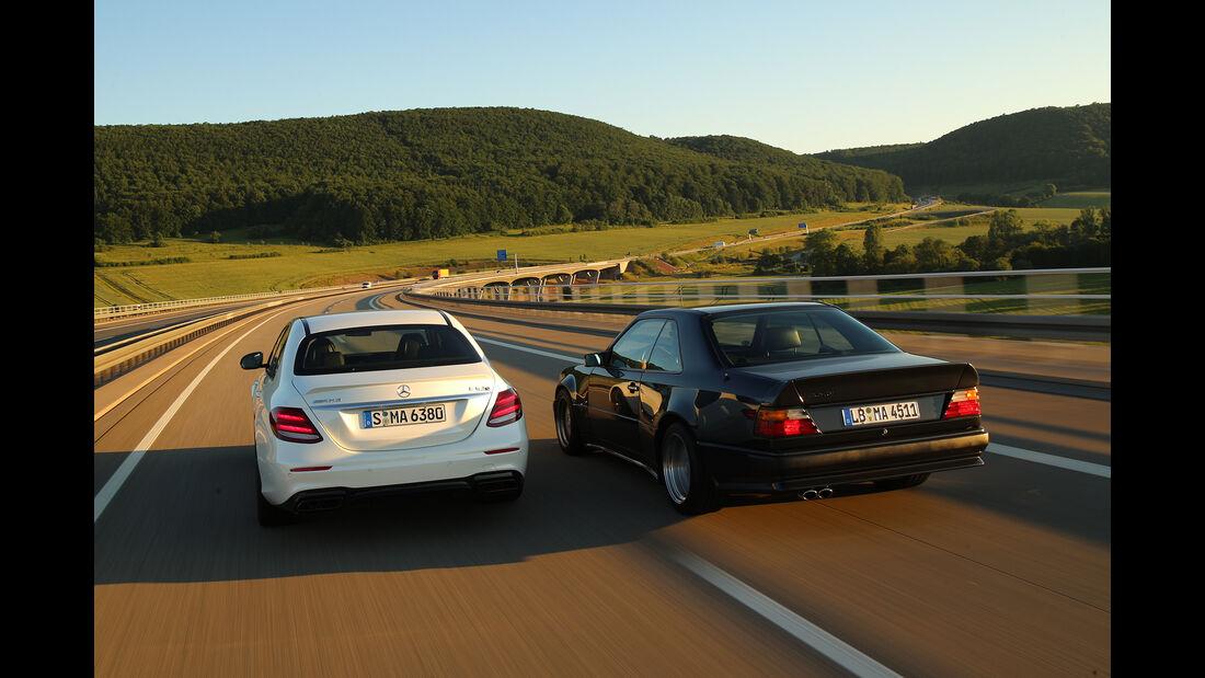 Mercedes-AMG E 63 S 4Matic+, Mercedes 300 CE 6.0-32V AMG, Heck