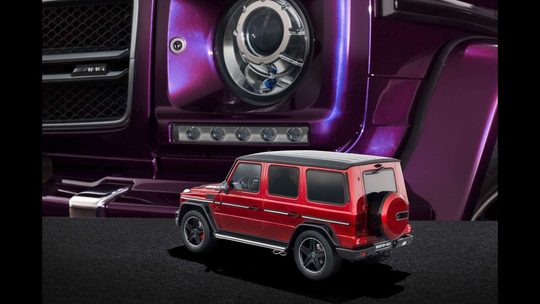 "Mercedes-AMG G 63 - Modellauto-Serie - ""Crazy Colors"" - tomatored"