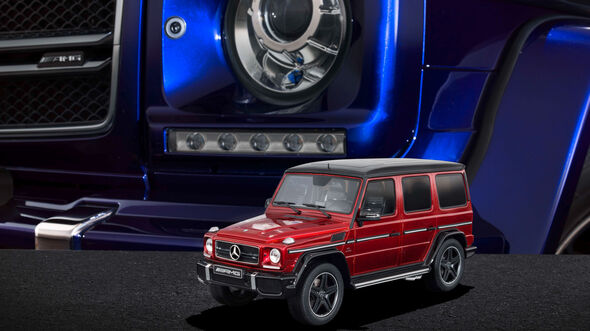 "Mercedes-AMG G 63 - Modellauto-Serie - ""Crazy Colors"" - tomatored"