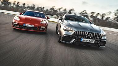 Mercedes-AMG GT 63 S, Porsche Panamera Turbo S, Exterieur