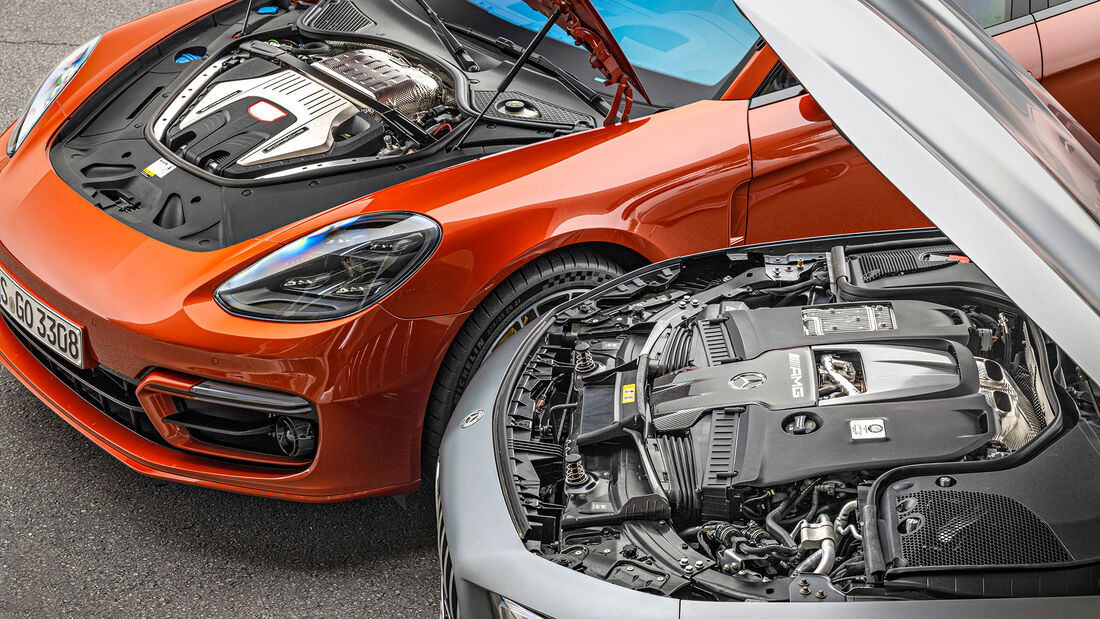 Mercedes-AMG GT 63 S, Porsche Panamera Turbo S, Motoren