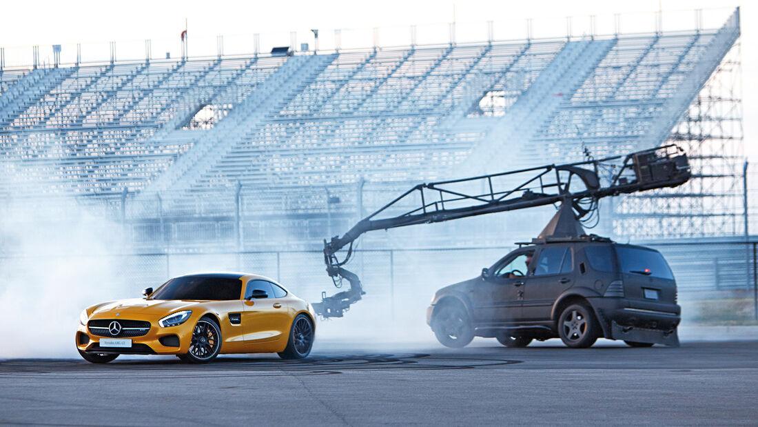 Mercedes AMG GT, Filmdreh, Impression, Aufnahmen