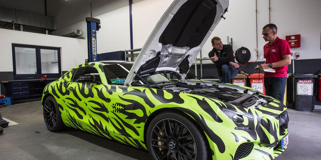 Mercedes-AMG GT, Motor, Seitenansicht