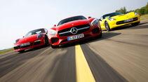 Mercedes-AMG GT - Porsche 911 Carrera GTS - Corvette Stingray - Sportwagen