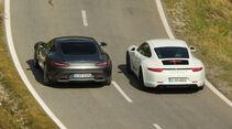 Mercedes-AMG GT, Porsche 911 Carrera GTS, Heckansicht