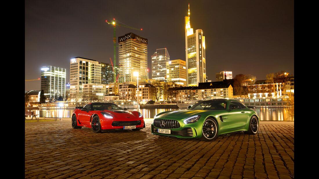Mercedes-AMG GT R - Corvette Z06 - Sportwagen - Test