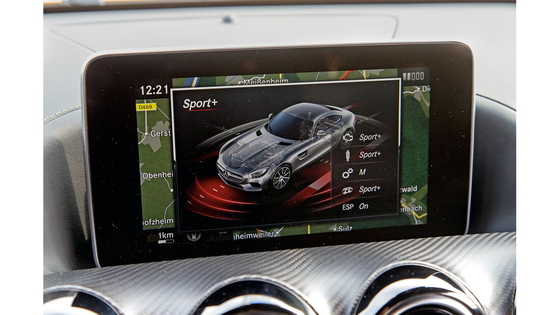 Mercedes-AMG GT S, Bildschirm, Infotainment