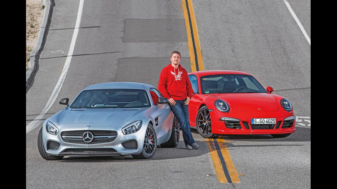 Mercedes AMG GT S, Porsche 911 Carrera GTS, Jens Dralle