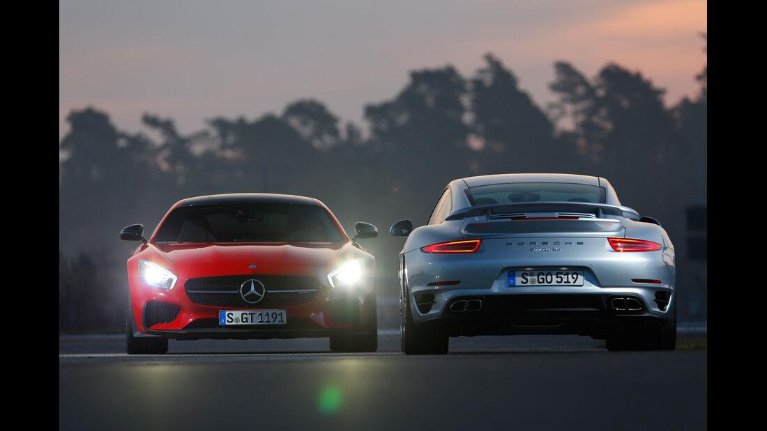 Mercedes-AMG GT S, Porsche 911 Turbo