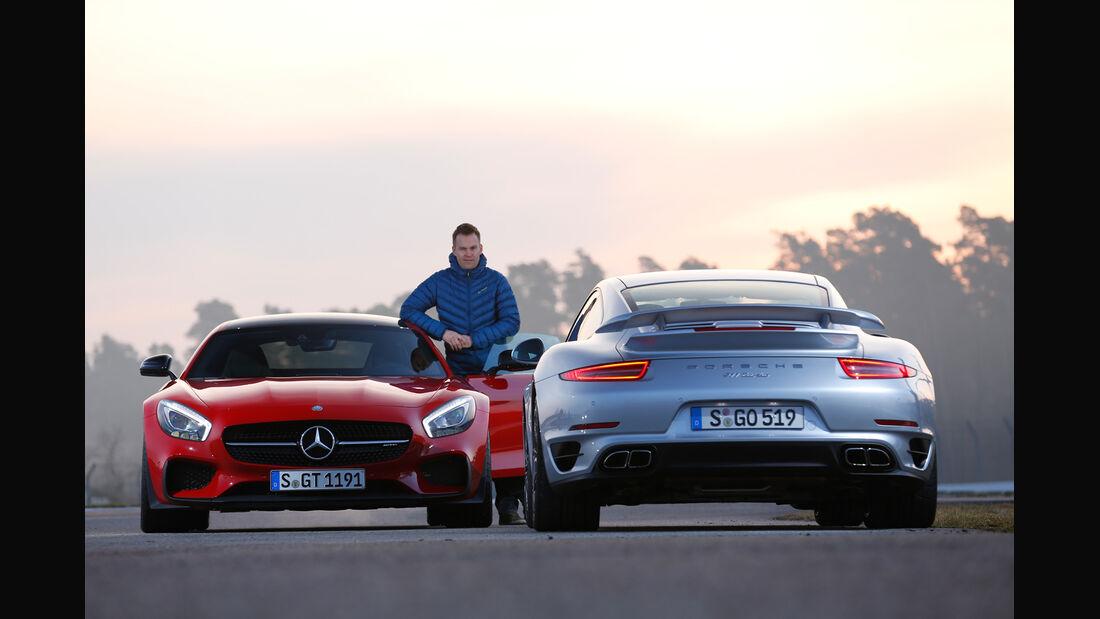 Mercedes-AMG GT S, Porsche 911 Turbo, Christian Gebhardt