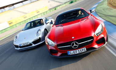 Mercedes-AMG GT S, Porsche 911 Turbo, Frontansicht