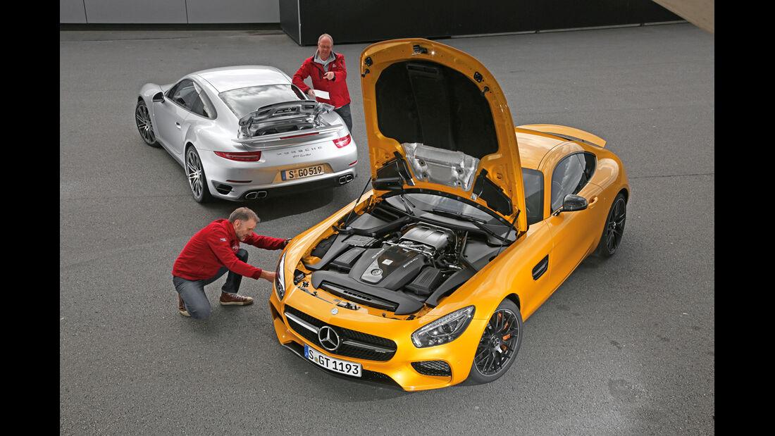 Mercedes-AMG GT S, Porsche 911 Turbo, Motor