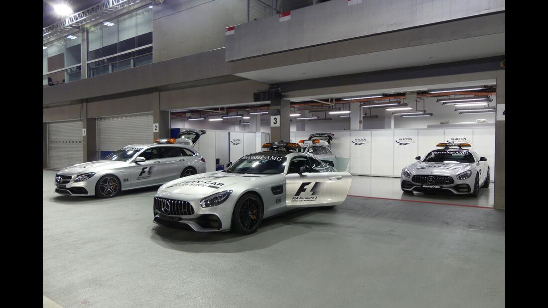 Mercedes-AMG GT S - Safety Car - GP Singapur - Formel 1 - Mittwoch - 13.09.2017