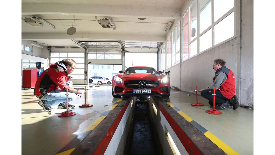 Mercedes-AMG GT S, Vermessung, Messstand