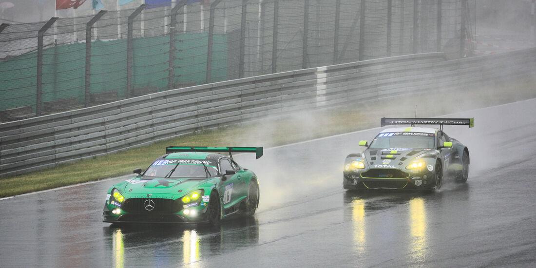 Mercedes-AMG GT3 (#6) - Aston Martin Vantage GT3 (#7) - 24h-Rennen Nürburgring 2018 - Nordschleife - 13.5.2018
