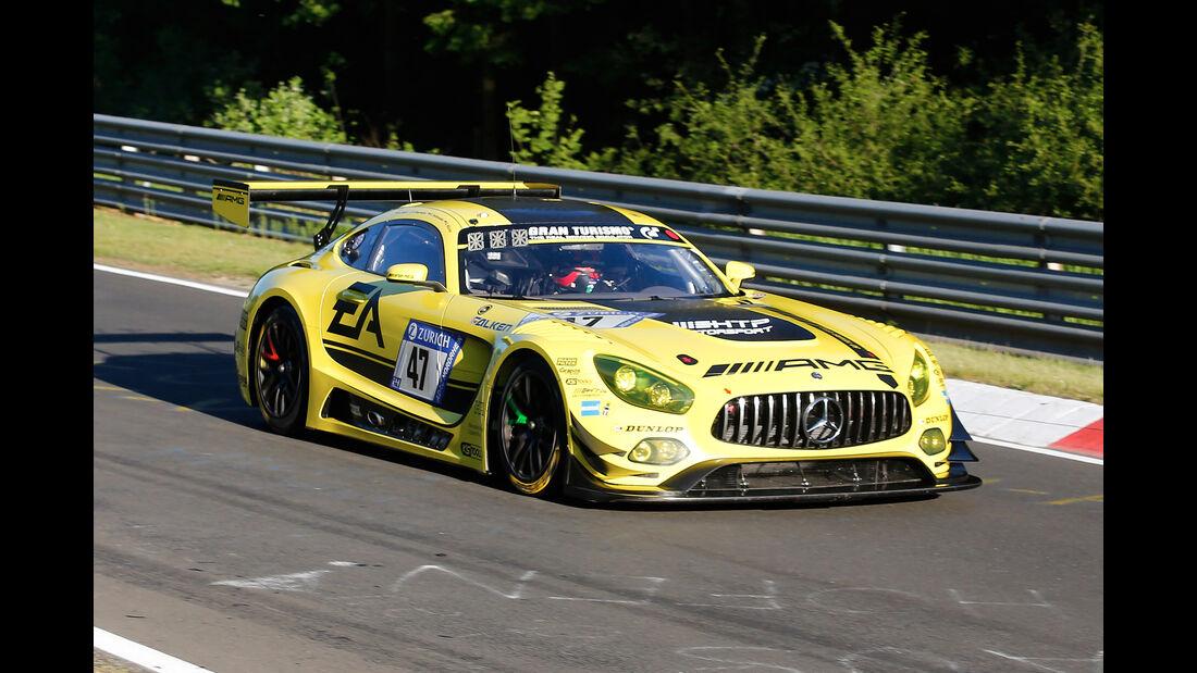 Mercedes AMG GT3 - AMG-Team HTP Motorsport -  Startnummer #47 - Top-30-Qualifying - 24h-Rennen Nürburgring 2017 - Nordschleife