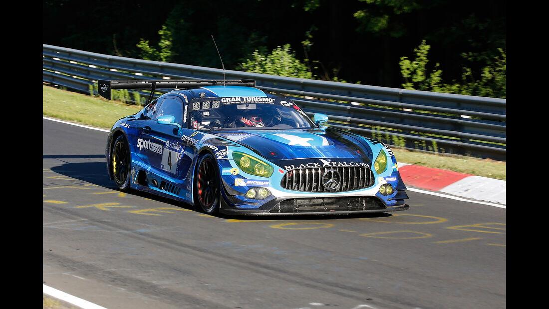 Mercedes AMG GT3 - Black Falcon - Startnummer #4 - Top-30-Qualifying - 24h-Rennen Nürburgring 2017 - Nordschleife