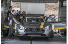 Mercedes AMG GT3, Frontansicht, Box