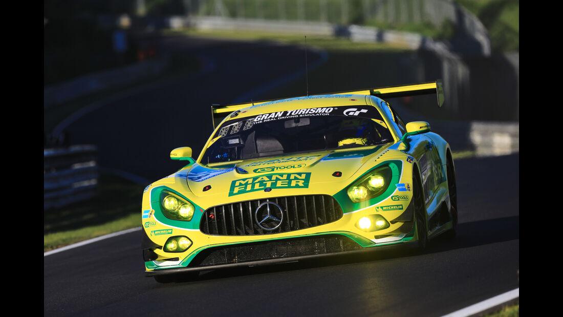 Mercedes AMG GT3 - Mann-Filter Team HTP Motorsport - Startnummer #48 - Top-30-Qualifying - 24h-Rennen Nürburgring 2017 - Nordschleife