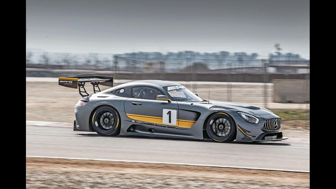 Mercedes AMG GT3, Seitenansicht