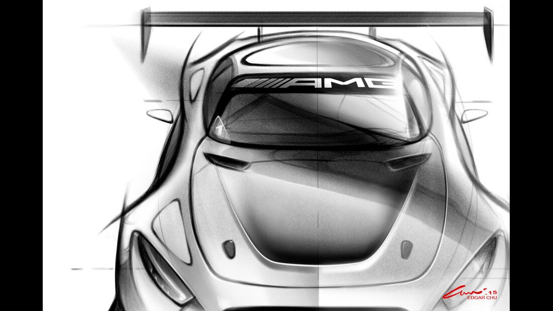 Mercedes AMG GT3 - Skizze - 2015