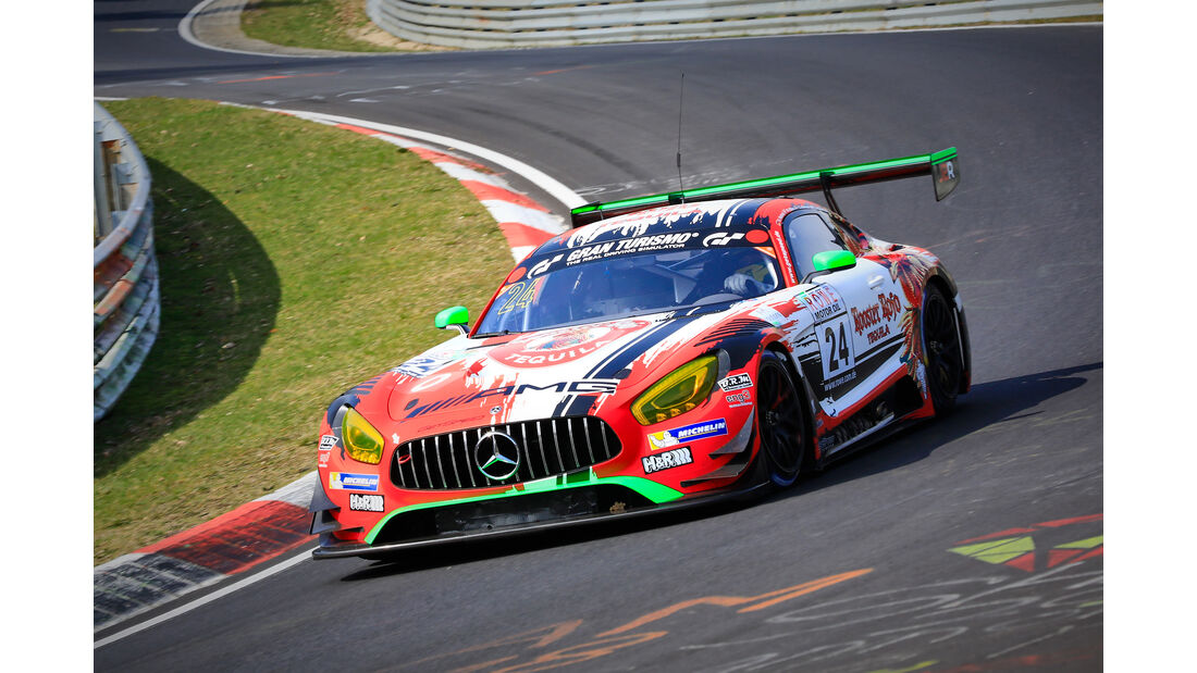 Mercedes-AMG GT3 - Startnummer #24 - Rooster Rojo J2Racing - SP9 Pro - VLN 2019 - Langstreckenmeisterschaft - Nürburgring - Nordschleife