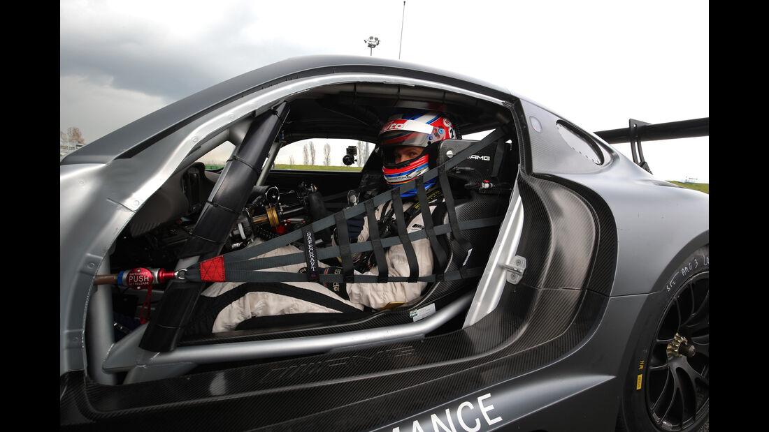 Mercedes-AMG GT3, Tracktest, Chassie, Fahrerposition