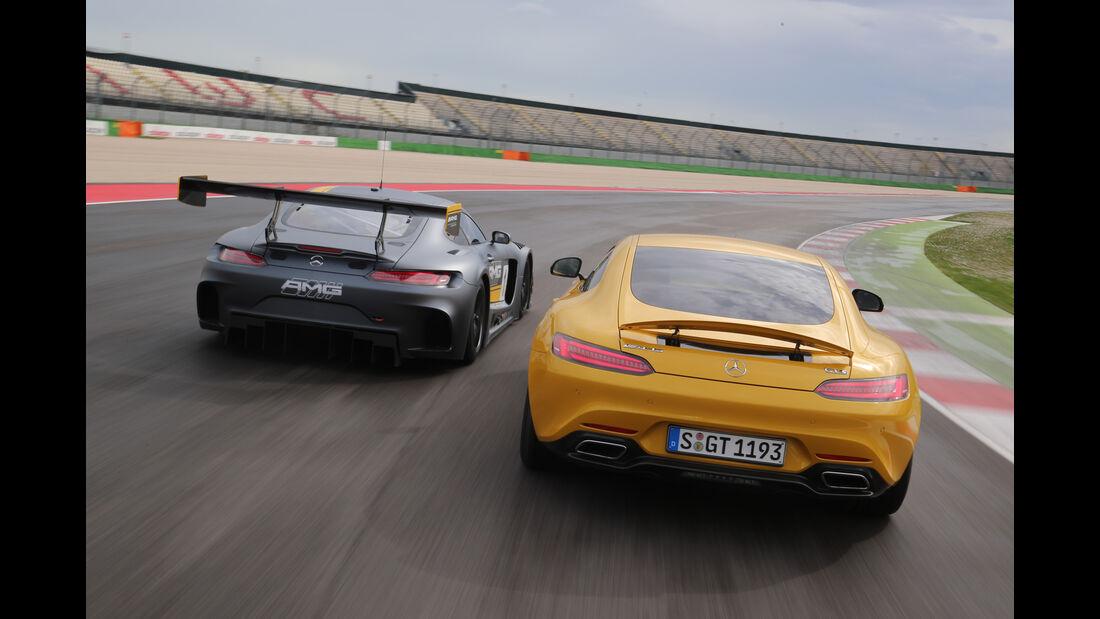 Mercedes-AMG GT3, Tracktest, Heckansicht