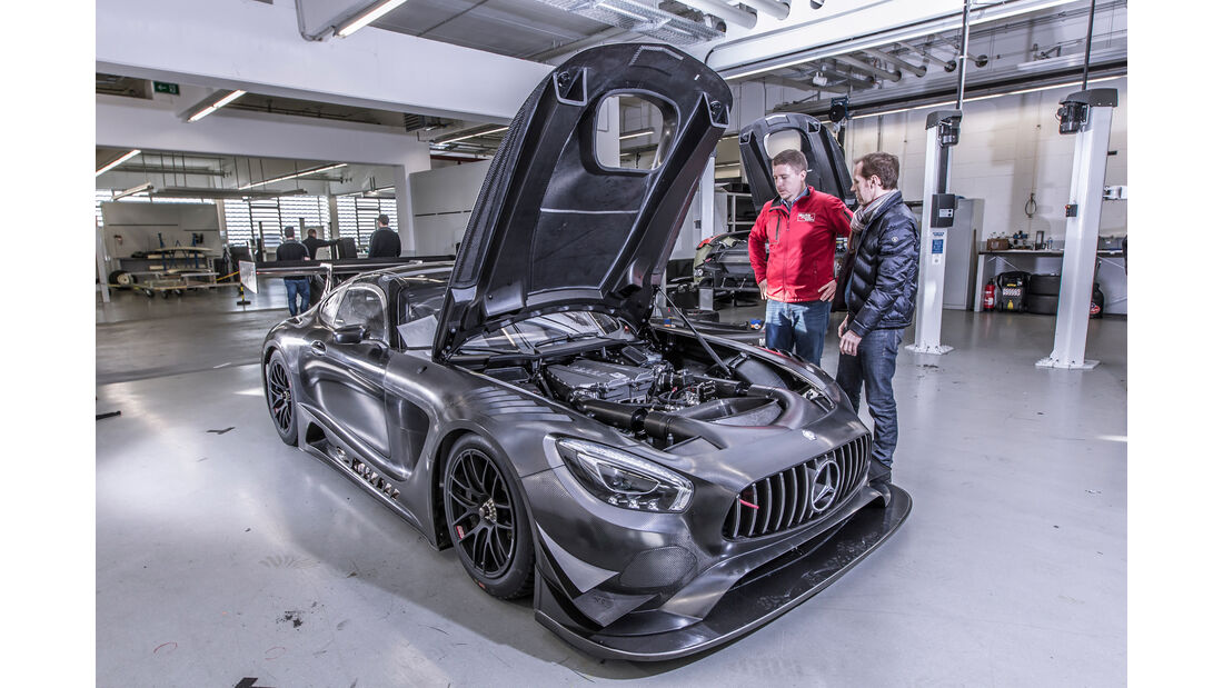 Mercedes-AMG GT3, Werkstatt, Reportage, Hersteller