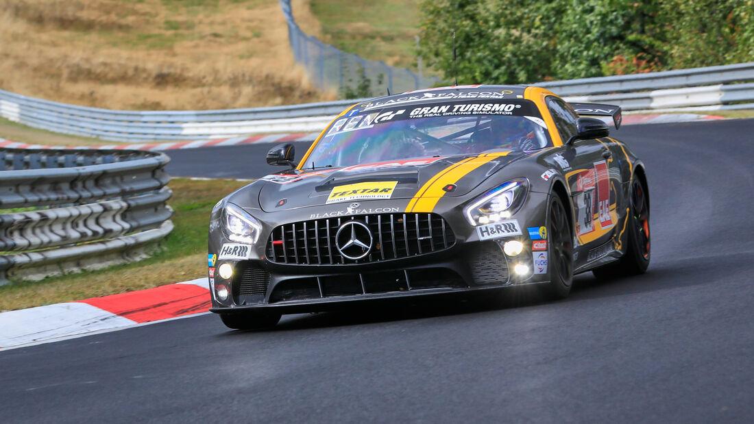 Mercedes-AMG GT4 - Black Falcon Team Textar - Startnummer #38 - Klasse: SP 8T - 24h-Rennen - Nürburgring - Nordschleife - 24. bis 27. September 2020